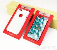 Scatola d'imballaggio della carta da imballaggio all'ingrosso di Kraft con la finestra di plastica per l'esposizione più di iPhone 6 6s 6 per la cassa del telefono