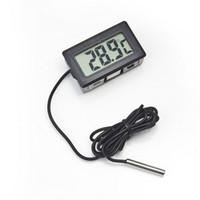 Groothandel ingebed elektronische digitale thermometer FY-10 digitale elektronische koelkast thermometer zwart