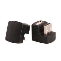 ZJT49 Siyah 180 Derece USB Erkek Bir Kadın Uzatma Genişletici M / F Adaptörü Kablo Bağlayıcı 3G Router Araba