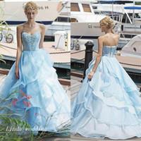 Bleu ciel clair robes de Quinceanera chérie Ruffle douce 16 longue robe de soirée événement robe robe de bal Plus la taille robes de 15 années