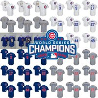 Men Women Youth Chicago Cubs Jersey Gold World Series Champi...