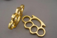 new 1pcs THICK THICK 12mm BRASS KNUCKLES KNUCKLE DUSTER Gold...