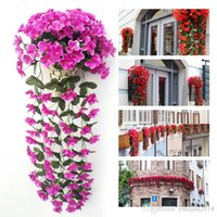 Lifelike Violet Orchid Ivy Artificial Flower Hanging Plant S...