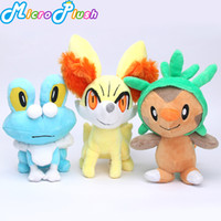 3pcs lot Piakchu Plush XY Series Chespin Fennekin Froakie Pl...