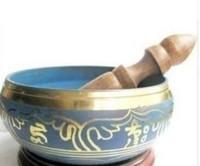 Ücretsiz Kargo Tibet Yeşil Kase Singing HIMALAYA El Dövülmüş ÇAKRA MEDITASYONU Din 8 cm Çapı Buzlu Bronz Kase
