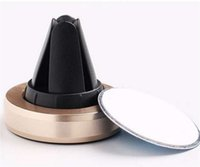2017 Universal Air Vent Magnetic Titular do telefone móvel para Samsung Magnet Car Phone Holder Alumínio Silicone Stand Holder Mount