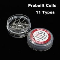 Prémonté Premade Bobines Clapton Ruche Tiger Quad Flat Mix Twisted Fused clapton Alien Chauffage Fils bobine 3.0mm 10pcs / lot