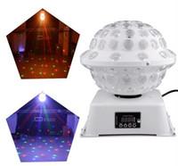 Estúdio DJ Estágio Efeitos de Iluminação Especial RGB Mudança de Cor 360 Rotating LED Sistema de Luzes Mágicas Equipamentos Bola de Discoteca LLFA