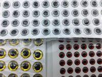 Rompin vara 100PCS 3D Olhos de pesca para Lure Fazendo amarração da mosca falsos olhos pesca isca ouro vermelho diy lasca 3 milímetros 5 milímetro 7 milímetros 9 milímetros