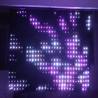 LED 비전 커튼 P10 3 mtr x 6 mtr LED 비디오 커튼 스타 천으로 매트릭스 배경 웨딩 스테이지 DJ 펍 DMX 제어