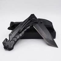 Migliore qualità in acciaio inox annerimento coltello pieghevole coltello sbucciatura 440C sopravvivenza esterna di campeggio caccia strumenti tasca EDC