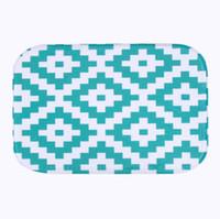 Toptan Satış - Basit Tasarım 2016 mikrofiber şönil banyo paspas halı kilim halılar Halılar Yatay Çizgili Halı Banyo Mutfak tapete XT