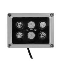 12V 60m 6 PCS LED Array IR Illuminator Lampada a infrarossi Lampada a infrarossi LED Light Outdoor Impermeabile per telecamera telecamera CCTV Camera 6 Arey IR Light