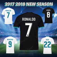 2017 18 NEW REAL MADRID Футбольные Jerseys MODRIC LUCAS V MORATA BALE KROOS ISCO BENZEMA Футбольная рубашка Роналду