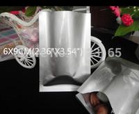 Bolsa de ping de café en polvo de 6x9cm, 200 piezas / paquete X Bolsas de frijoles de planchado mylar plateado de aluminio blanco puro