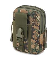 Militare tattico Hip tasca del raccoglitore esterna degli uomini di sport casuali della cinghia di vita della cassa del telefono Holster Army Camo Bag Camouflage