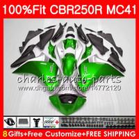 Injection pour Honda Green Black CBR300R CBR250R MC41 11 12 13 14 15 94NO15 CBR250 R CBR 250R 300R CBR 250 R 2011 2012 2013 2014 2015 Catériel