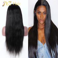 JYZ 130 Dichte Brasilianische Jungfrau Menschliches Gerades Haar Full Spitze Perücken Glueless Human Hair Front Spitze Perücke Für Schwarze Frauen Freies Verschiffen