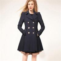 여성 코트 겨울 트렌치 코트 패션 솔리드 오버 코트 턴 다운 칼라 슬림 겉옷 단추 블랙 네이비 베이지 의류
