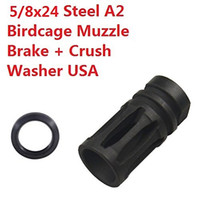 Hot Sell AR . 308 5 8x24 A2 BirdCage Muzzle Brake with crush ...