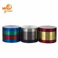 Di alta qualità 55 * 45mm 4 parti di cromo di cromo colorato in lega di zinco Herb Grinder fumare erbe smerigliatrici per vendita al dettaglio
