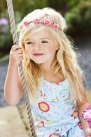 Baby Flower Garlands Fashion DIY Rose Headbands Floral Headd...