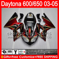 8 Gifts 23 Dark red Colors For Triumph Daytona 600 650 03 04...