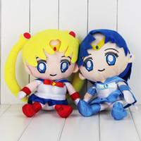 Marinero animado japonés Luna Tsukino Usagi de la felpa del 27cm muñeca de la felpa juguetes de peluche de regalo al por menor de los niños envío
