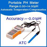 Toptan-Ücretsiz Kargo Mikrobilgisayar tabanlı Taşınabilir El PH Metre Cihazı Aralığı: 0.00 ~ 14.00pH Doğruluk: + - 0.01pH ATC