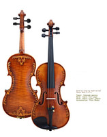 V07- carved Violin 4 4 Advanced Italy handmade violin Antique...