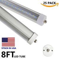 LED T8 مصباح 45W FA8 واحد دبوس 8 القدم LED أنبوب الخفيفة 96 '' 8 'AC85-265V SMD2835 100LM / W ضوء لمبة