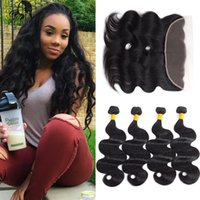 7A Body Wave Lace Frontal Closure with Bundles Mocha Hair 13...