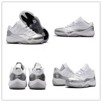 New 2017 New Color White Sliver 11 Low Basketball Shoes XI M...