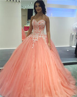 Beautiful Sweetheart 2019 Coral Quinceanera Dresses Ball Gow...