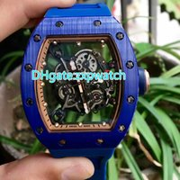 New blue ceramic case blue rubber strap machine large size 4...