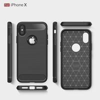 Fundas de fibra de carbono libre de DHL para iphoneX iphone8 cubierta de armadura a prueba de golpes resistente para iphone7 7Plus 6SPlus 5S 2017 venta caliente