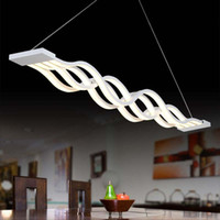 Led Strips Intersect Modern Pendant Lamp Led Chip Inside Acr...