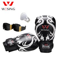 10OZ Wesing Sanda Training Equipment Set Боксерские перчатки Зубной протектор Handrap Punch Bag Перчатка Protector Gear Fight Fitness