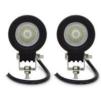 2個送料無料12V 24V DC 2インチ10Wクリーおき防水自動車オートバイ自転車ATV LED作業ライト