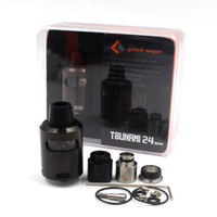 Tsunami 24 RDA Tank Rebuildable Vape Vapor 24mm 2 Post Velocity Style Deck Finestra in vetro Tsunami 24 Glass Window RDA
