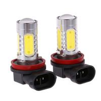 7.5 W LED Lamba H11 / H8 COB LED Ampul Araba Oto Işık Kaynağı Projektör DRL Sürüş Sis Far Lambası 12 V DC