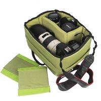 SLR Camera Waterproof Army Green Nylon Storage Bag Zipper Mu...
