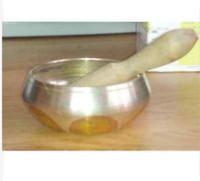 Ciotola grande di yoga della ciotola di canto della scrofa della scrofa dorata dorata d'ottone di rame Trasporto libero