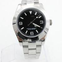새로운 도착 자동 럭셔리 남성 기계식 시계 스테인레스 스틸 블랙 페이스 캐주얼 남성 패션 손목 시계 방수 수송선