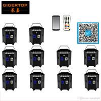 FREESHIPPING 10 حزمة 6IN1 بطارية تعمل بالطاقة اللاسلكية RGBWA UV DMX + IRC الحرية LED غسل الاسمية الإضاءة في الطاقة / خارج قابل لل التوصيل