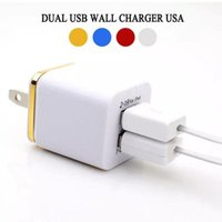 Dual Wall Charger 5V 2A 1A Port double USB Power Adapter for huawei Samsung Galaxy S6 S8 S10 Android Phone Pc Mp3 chargaers