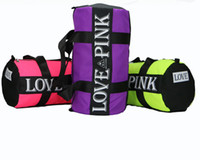 New Men Women Pink Canvas Handbags Love Pink Travel Storage ...