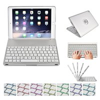 Pour New iPad 9.7 Air Wireless Keyboard Case LED Backlight Clavier Bluetooth avec housse de protection pour 2017 iPad mini air2 Pro
