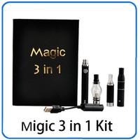 Magi 3 i 1 vaxförångare penna kit torr ört elektroniska cigaretter med förstärkare MT3 glasförstärkare evod batteri 1100mAh