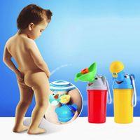 Bottiglia portatile di urina del fumetto per i bambini Cute Portable Baby viaggio orinatoio auto WC Camping Boy Girl Kid orinatoio elefante Potty